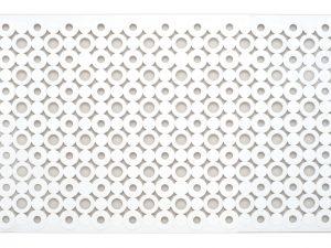 Alfombra de baño antideslizante blanca