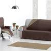 Funda sofá reversible chocolate/beige