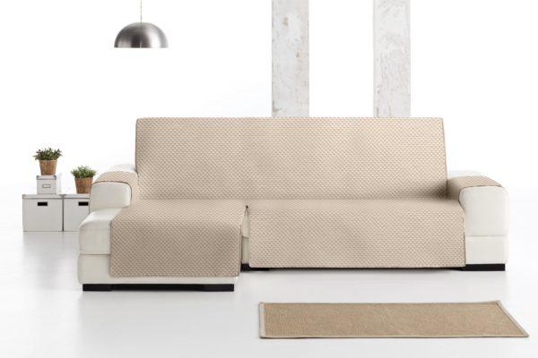 Funda sofá chaise longe beige