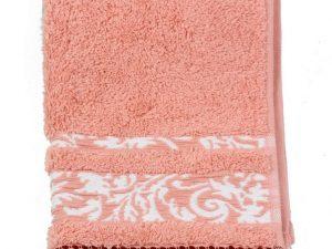 Toalla flecos rosa