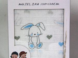 Muselina conejo azul
