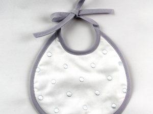 Babero lencero gris