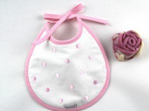 Babero lencero rosa