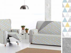 Cubre sofá estampado reversible