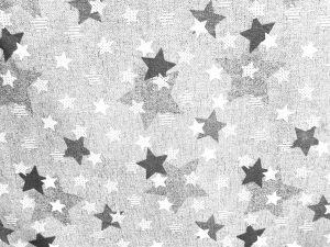 Loneta kabul gris estrellas