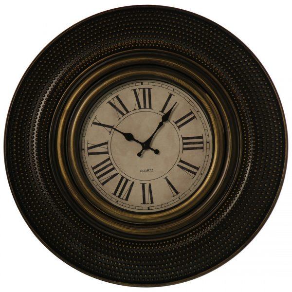 Reloj de pared marrón