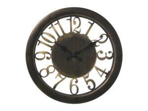 Elegante reloj de pared dorado