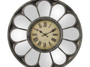 Reloj de pared con espejo