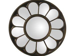 Espejo decorativo de resina dorado