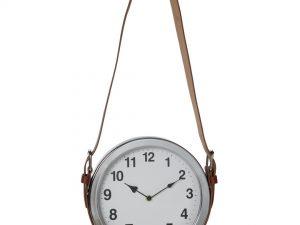 Reloj de pared de metal con cinta