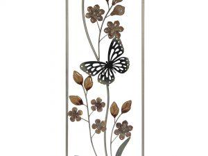 Aplique de metal mariposa