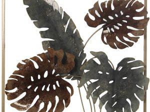 Aplique de metal para colgar en la pared hojas