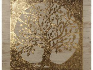 Cuadro árbol de la vida dorado