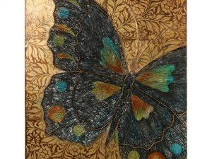 Cuadro de madera mariposa