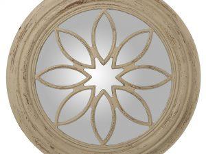 Espejo decorativo de resina blanco envejecido
