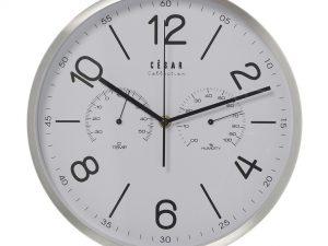 Reloj de pared con termómetro