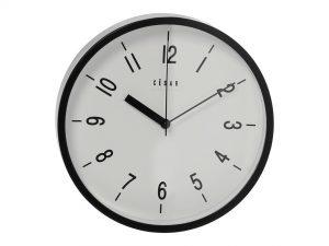 Reloj de pared acrílico negro