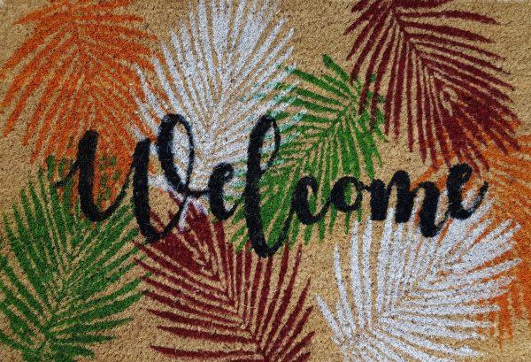 Felpudo tropical welcome