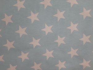 Tela Loneta Estrellas Celeste