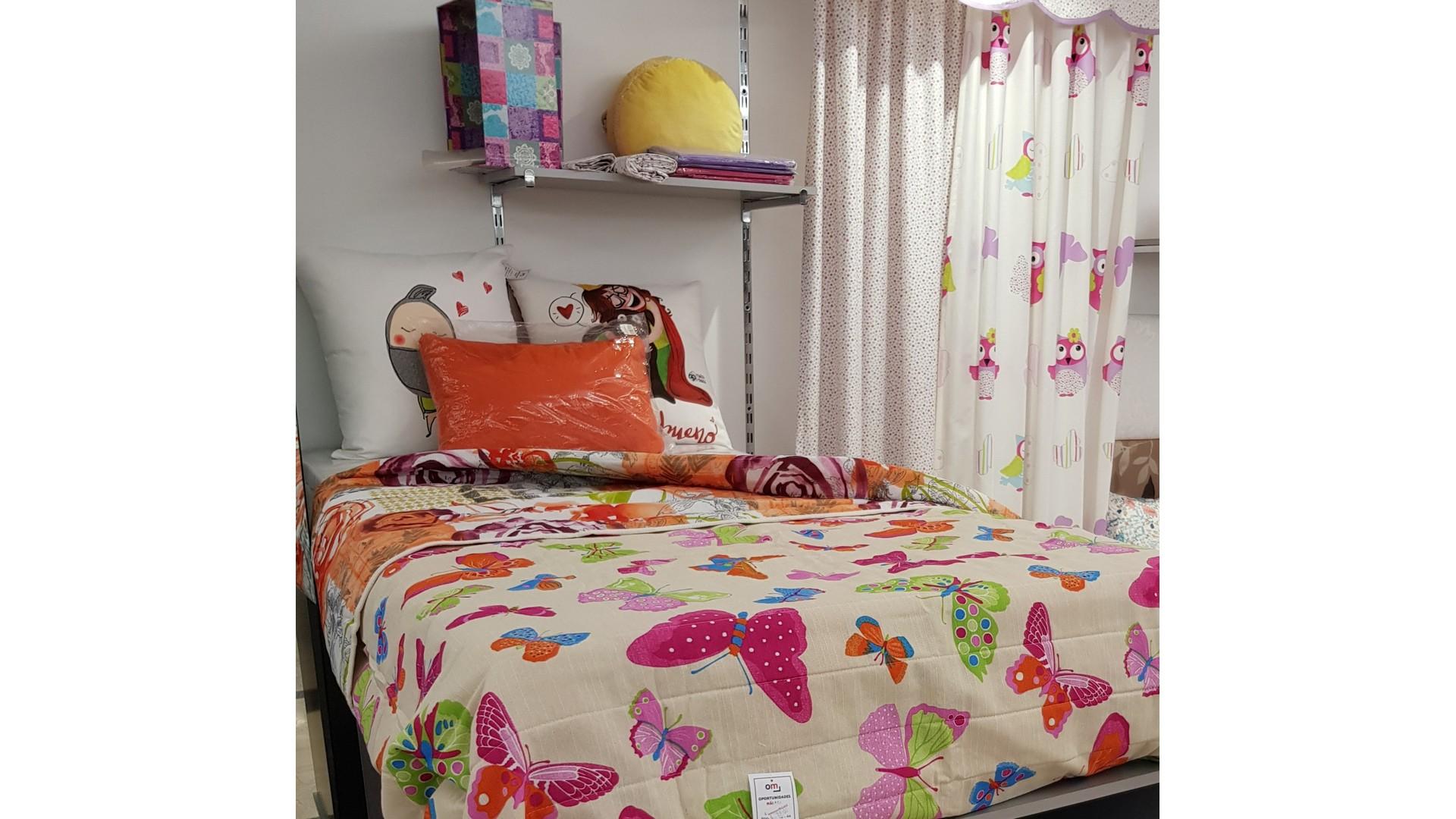 Colcha Bouti Reversible 90 Mariposas – OM Hogar ®