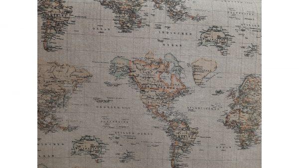 Tela Loneta MApa Mundi Natural