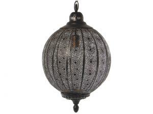 Lámpara de techo de metal labrada negra/dorada