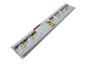 Barra blanca de Aluminio universal para todo tipo de duchas