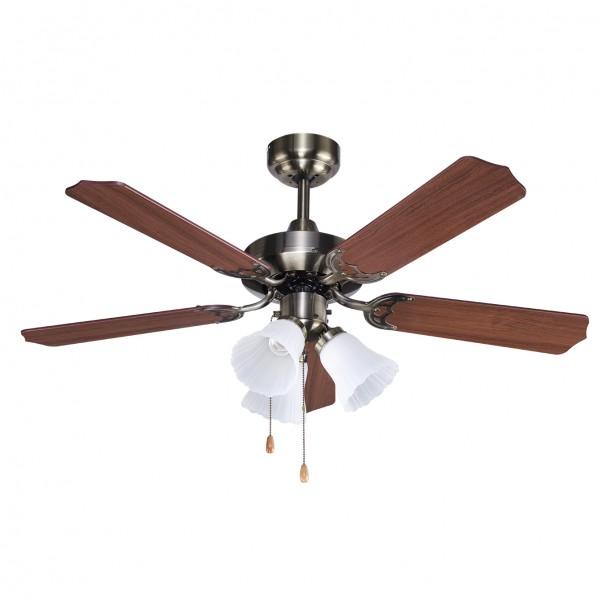 Ventilador Lámpara garbin Cuero
