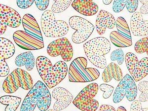 Tela patchwork corazones