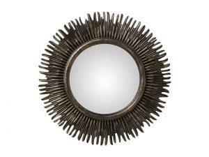 Espejo Redondo Resina Gris 58 cms diámetro