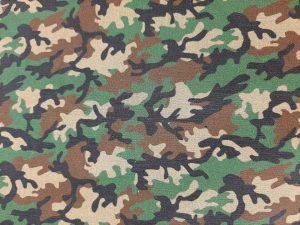 Tela Algodón Mascarillas Camuflaje Verde