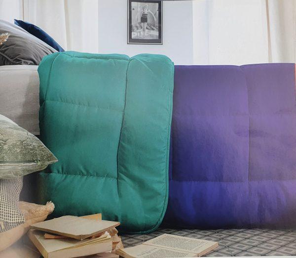 Nórdico Fibra Bicolor Esmerada y Azul
