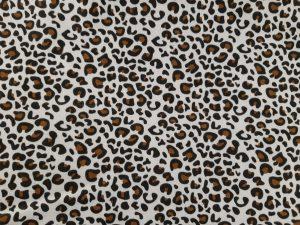 Tela algodón leopardo