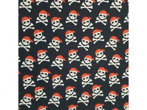 Tela Mascarilla Algodón Calavera Pirata