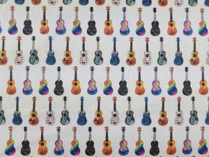 Tela para mascarillas de Algodón Guitarras