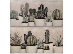 Set 2 cuadros Cactus