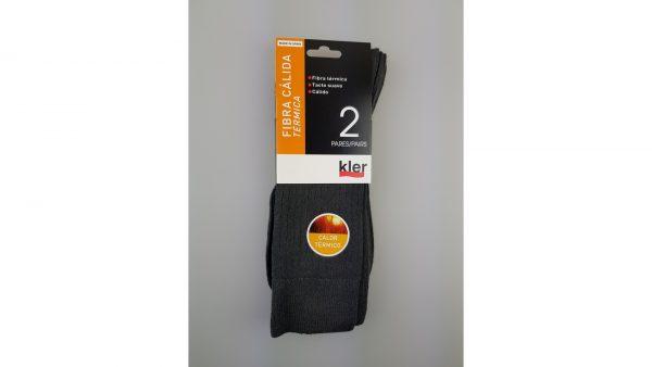 Pack 2 calcetines fibra termica gris