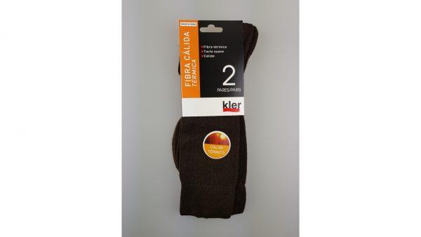 Pack calcetines termicos marrones