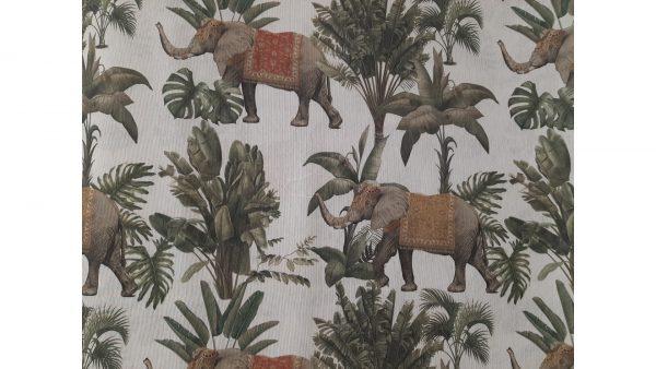 Tela Cortinas Elefantes