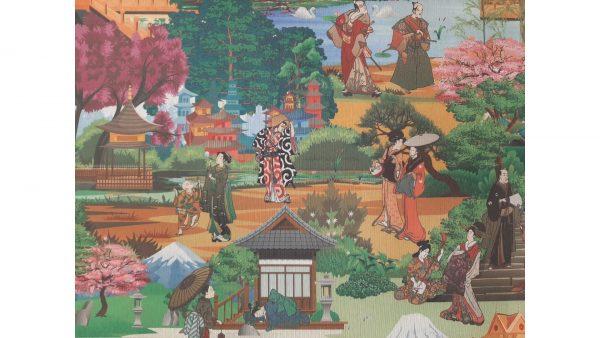 Tela Loneta Jardín Japonés