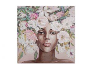 Cuadro Africana Flores Rosas