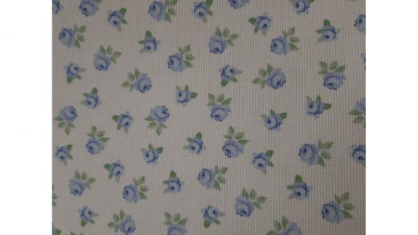 Tela de Piqué Flores Azules