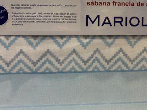 Sábana Algodón cálido Mariola Azul