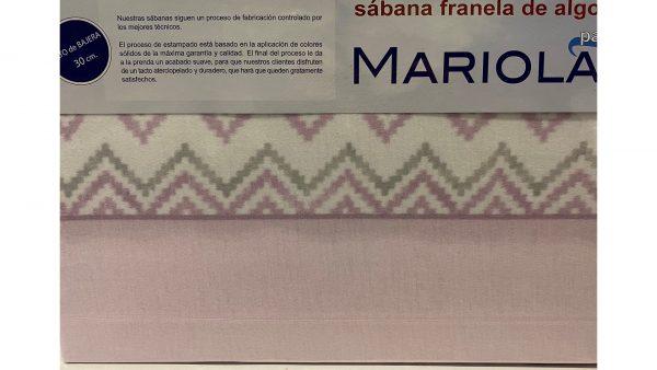 Sábana Franela Mariola Rosa