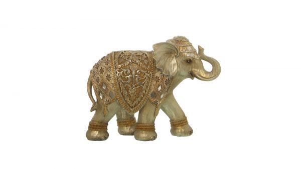 Figura elefante Dorado