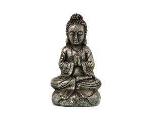 Figura Buda Resina Plata