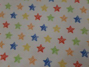 Tela Piqué Estrellas colores