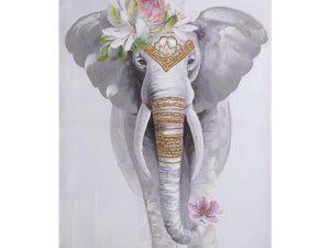 Cuadro lienzo elefante