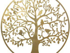 Cuadro arbol de la vida dorado